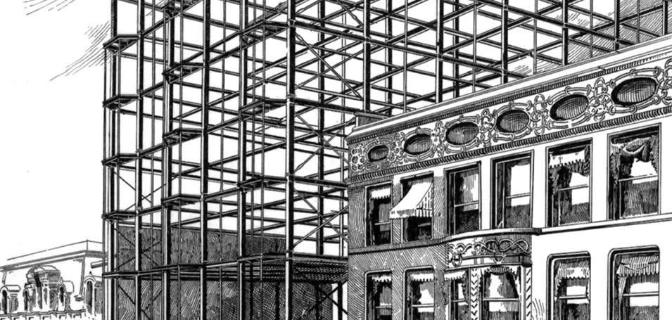Word of the week skeletal frame blueprint chicago for Home construction insurance