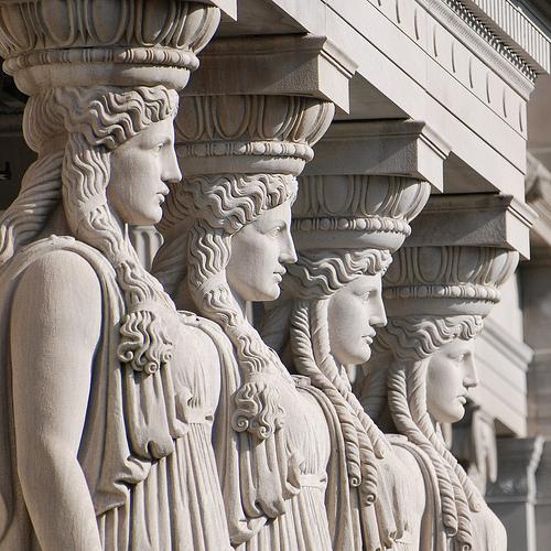 Image result for Caryatids art